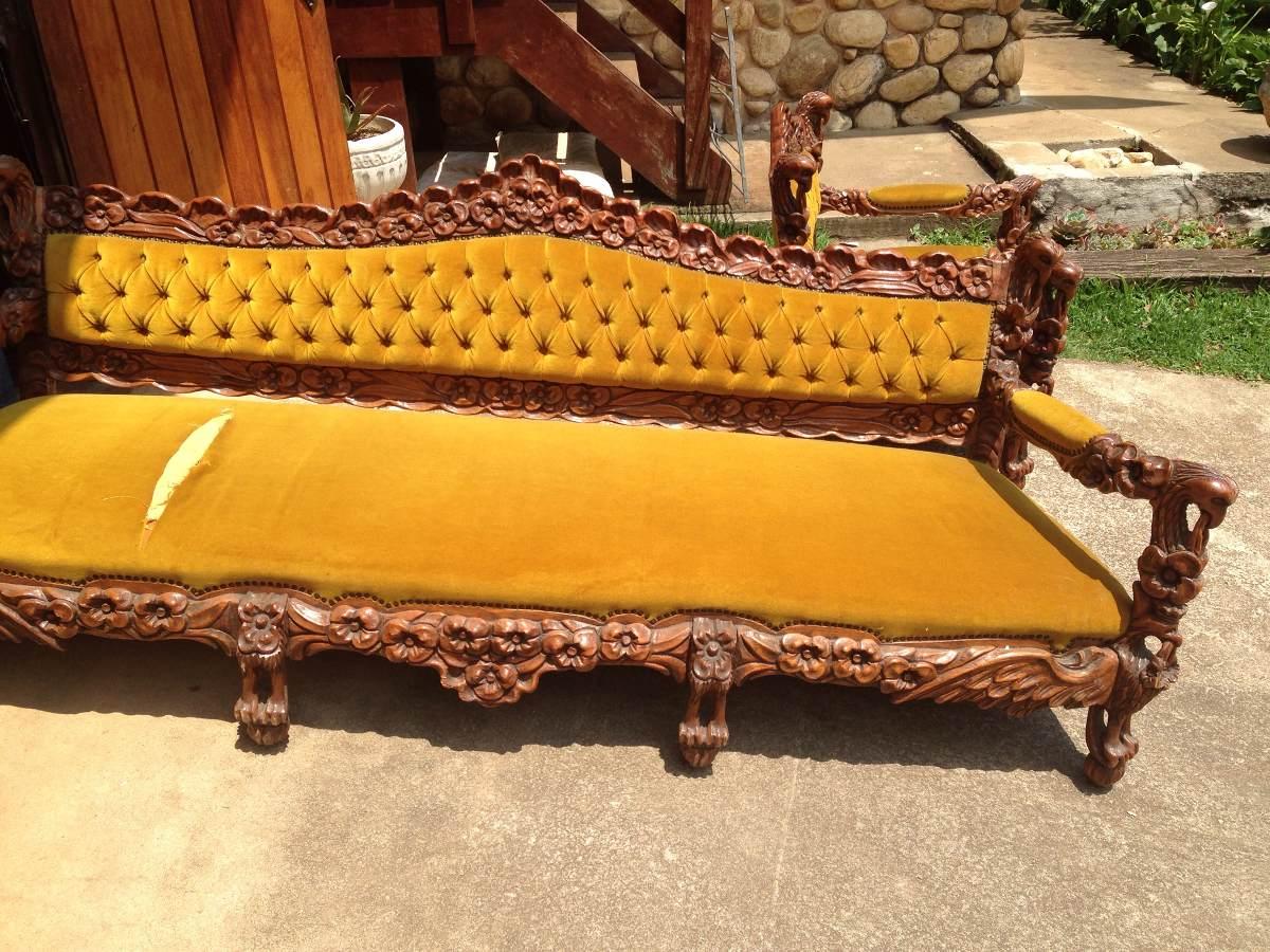 Lindo sof estilo colonial de 1979 r em mercado livre - Sofas estilo colonial ...