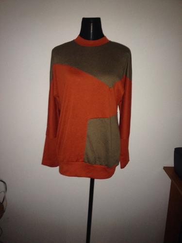 lindo sweaters chaleco estilo vintage naranjo mini vestido