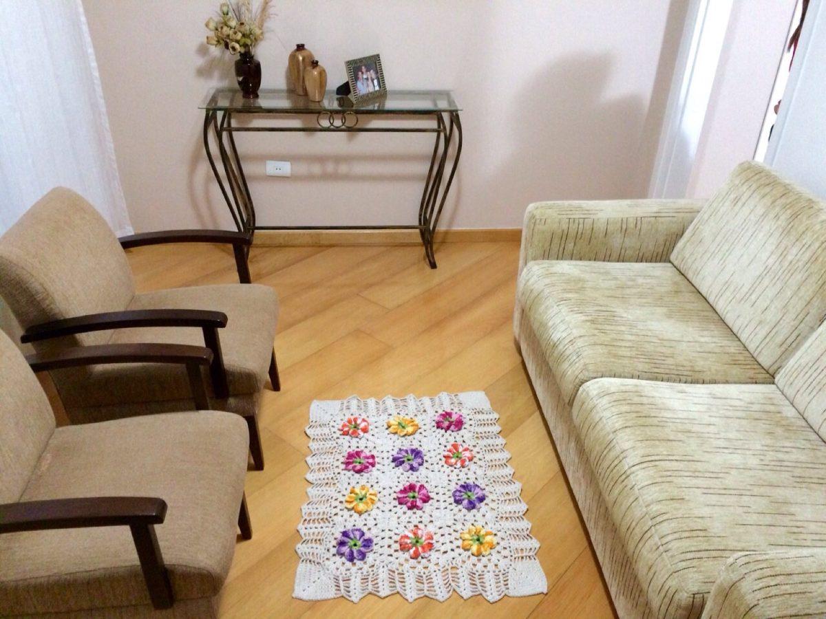 Lindo Tapete De Croche Para Sala Quarto Cozinha R  ~ Tapete Quarto Medidas