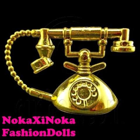 lindo telefone luxo para casa de boneca barbie * miniatura