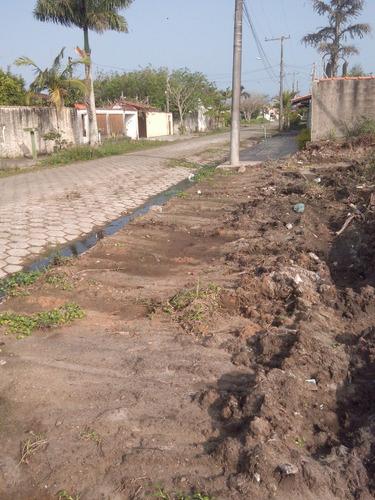 lindo terreno de esquina no cibratel 2, em itanhaém ref te08