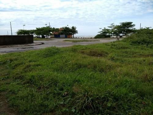 lindo terreno de frente para o mar em itanhaém 3479