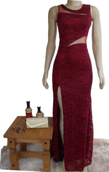 2e40264e4b Lindo Vestido Azul Royal Renda Madrinha Casamento 15 Anos - R$ 240 ...