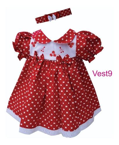 lindo vestido bebê 0 a 5 meses com tiara, promoção !