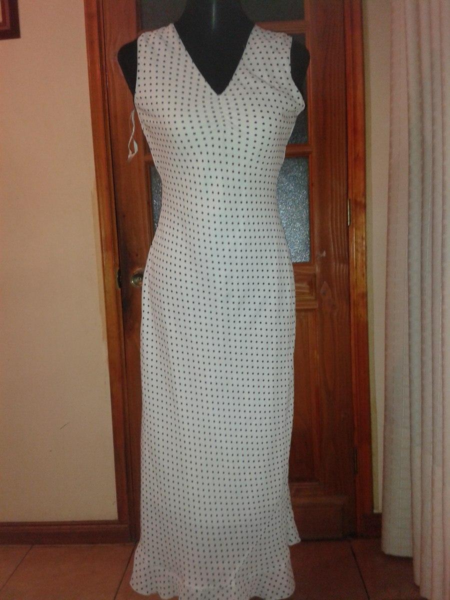 Vestido Negro Puntos Blancos Otros Modelos - Vestidos Largos de ...