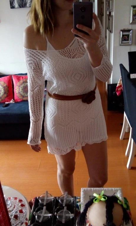 7e65ec0494 Lindo Vestido Blanco Toda Ocasión -   75.000 en Mercado Libre