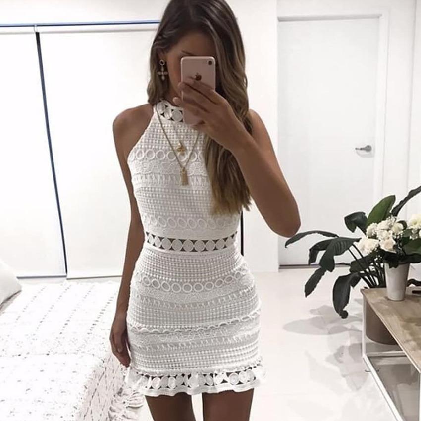 b827531681 Lindo Vestido Blanco Toda Ocasión -   128.000 en Mercado Libre