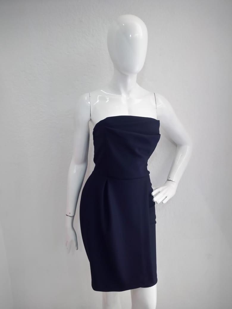 d9f5cdfc25 Lindo Vestido Color Negro Strapless. -   550.00 en Mercado Libre