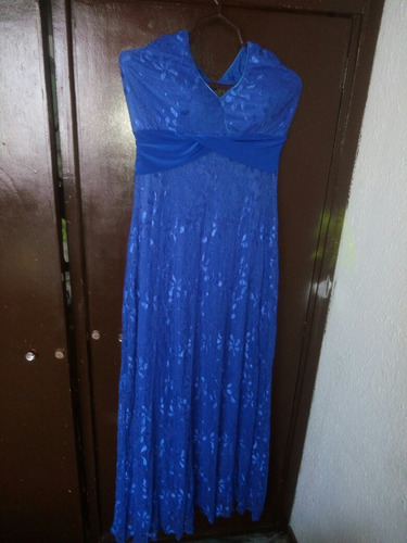 lindo vestido de fiesta azul halter