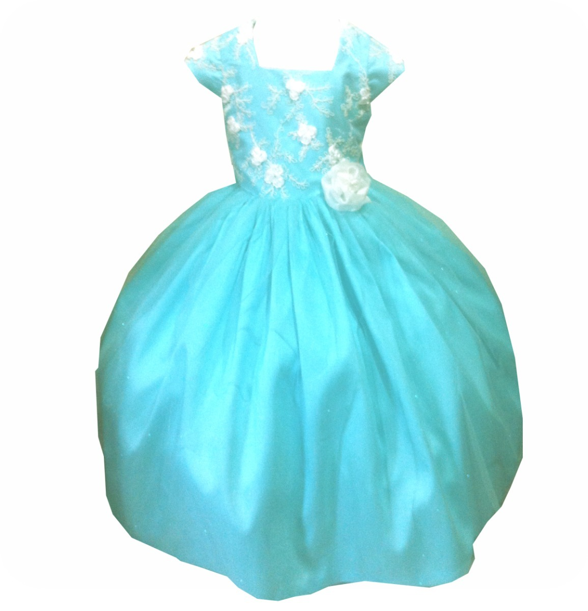Lindo Vestido De Fiesta Verde Agua -   690.00 en Mercado Libre 38c8ba0c7e4f
