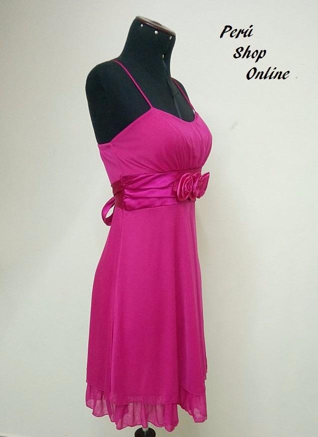 Lindo Vestido De Noche Y Fiesta Color Fucsia - S/ 95,00 en Mercado Libre