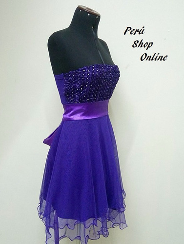 lindo vestido de noche y fiesta color morado