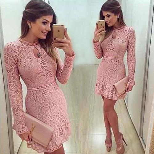 lindo vestido de renda artesanal, festas, casual , no brasil