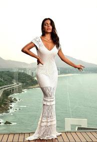 26bf3441f3 Vestido Branco Longo Tricot - Vestidos De Festa Longos Femininas em ...