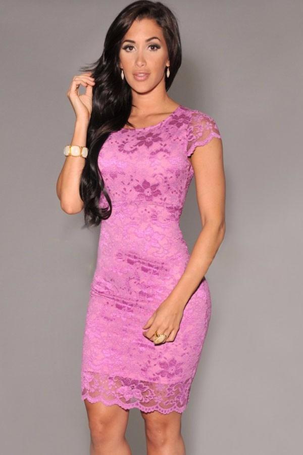 Lindo Vestido Elegante Encaje Para Mujer Sexy Dama Fiesta - $ 89.000 ...