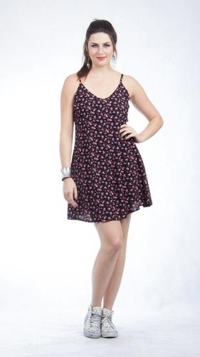 lindo vestido em tecido estampado tamanho p.
