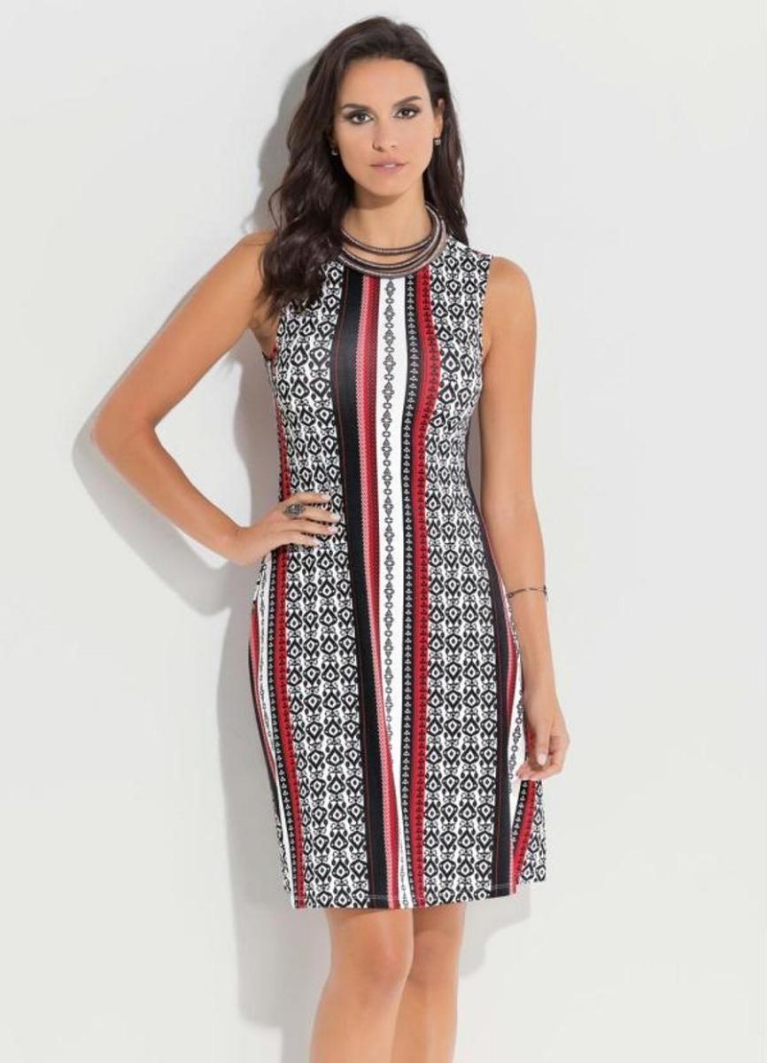 c769dcf830 lindo vestido feminino plus size étnico tricolor. Carregando zoom.