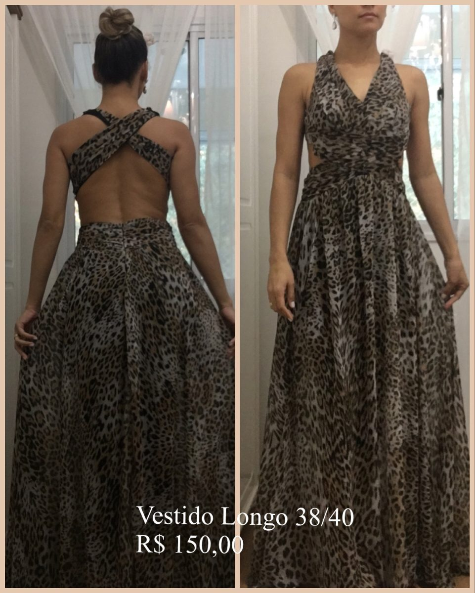 Vestido longo shop 126