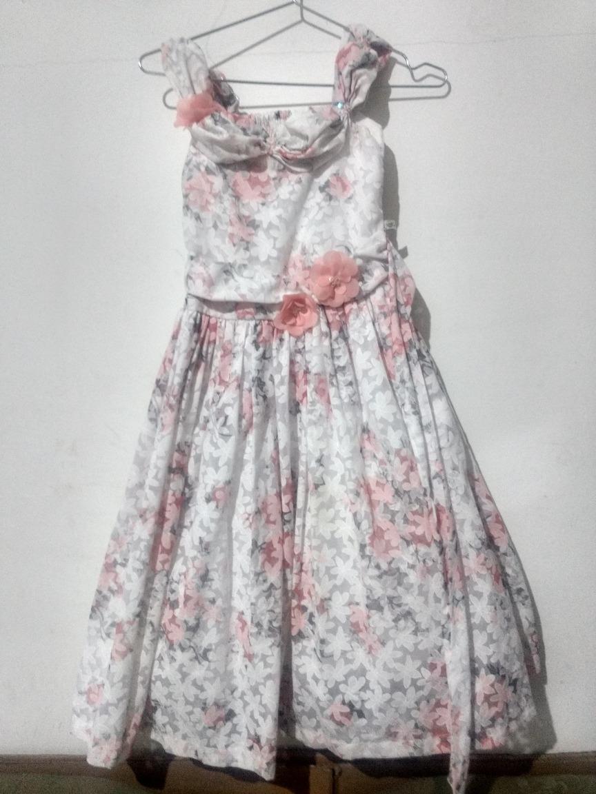 38b94538b63543 Lindo Vestido Infantil De Festa Tamanho 12 Anos
