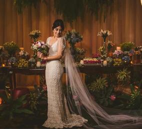 94fb1e6ee Vestido De Noiva De Croche Irlandes no Mercado Livre Brasil