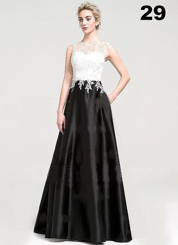 lindo vestido longo -em cetim com renda -festa  casamento...
