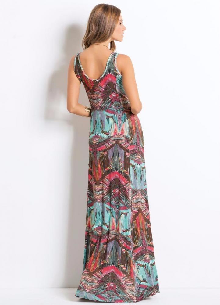 Lindo vestido longo casual