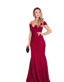 701b7685f Vestido Longo De Madrinha Casamento Vermelho Sangue Elegance - Vestidos com  o Melhores Preços no Mercado Livre Brasil