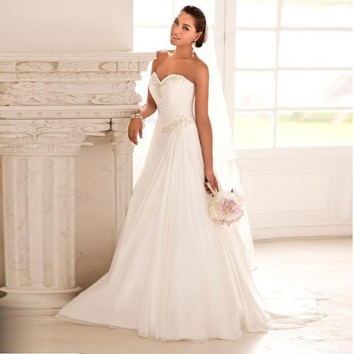 lindo vestido  noiva tomara q caia sereia  simples  f gratis