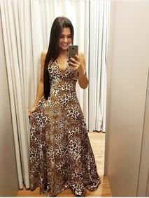 8a96e694d Vestido Decote V Pedraria Dourada Lindo Rodado - Vestidos Femininas ...