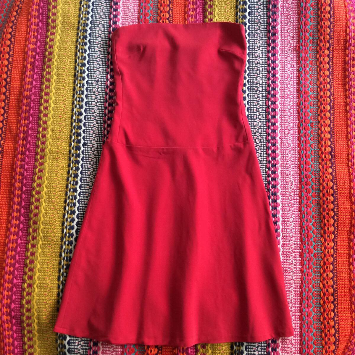 a96a7c1a46 lindo vestido tomara que caia vermelho tamanho 40 social. Carregando zoom.
