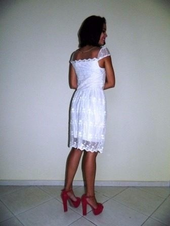lindo vestido vintage de renda festa - pronta entrega!