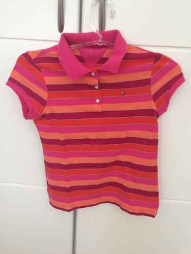 lindona!! camisa polo kids tommy hilfiger - 12/14 anos