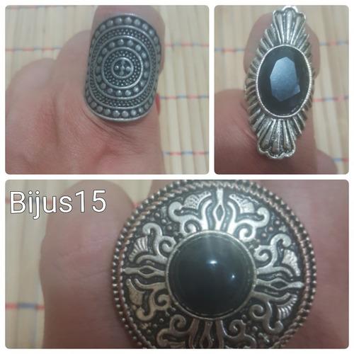 lindos anéis com detalhes em metais e pedras- vários modelos