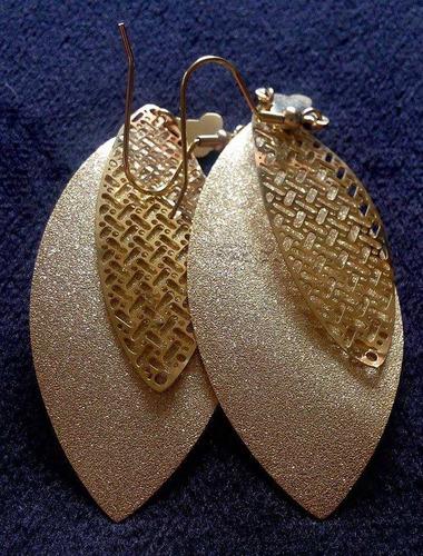 lindos aros de oro 18 k,enchapado con circon de swarovski