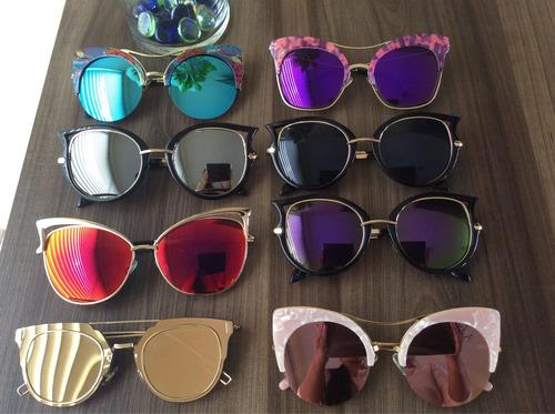 lindos lentes cat eye colores vintage moda europea nuevo