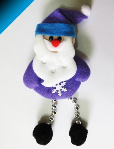 lindos muñecos adorno 18cms árbol navidad - pack 12 unidades