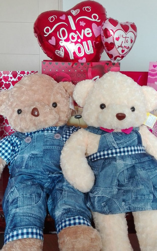 lindos peluches osos grandes para regalar + globo + tarjeta