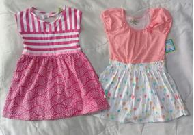 674086054 Lindos Vestidos Para Niña Rosa Con Rayas Y Globos