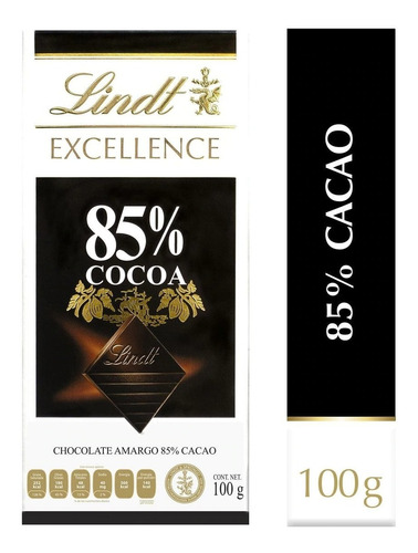 lindt excellence 85% cacao 100gr