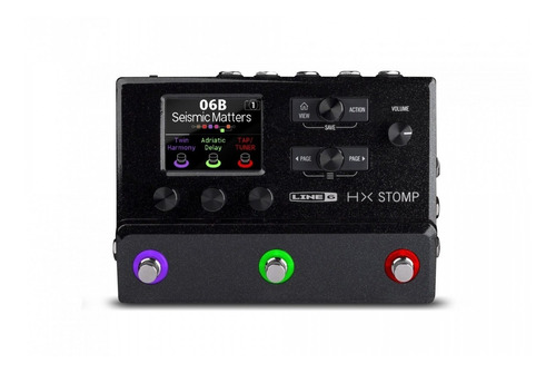 line 6 compact professional guitar processor hx stomp