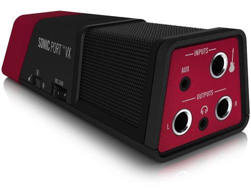line 6sonic port vx i/o de audio y micrófono estéreo