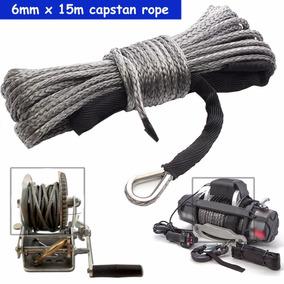 Winch Rope String Cable De Línea Con Vaina Gris 15m 7700LBs Cuerda sintetica remolque