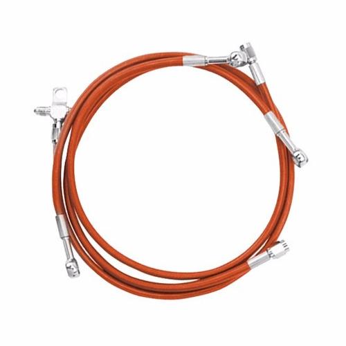 línea de freno delantera naranja universal 59  streamline
