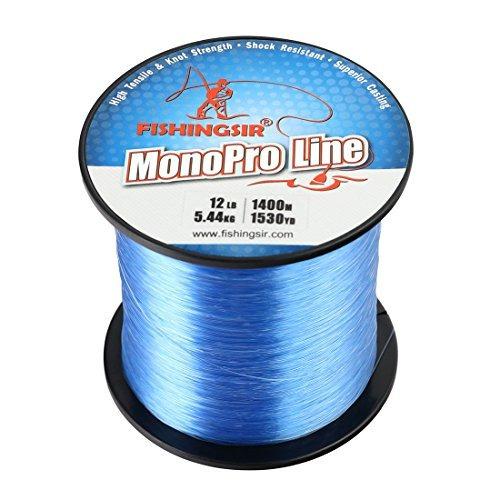 línea de pesca monofilamento azul 4 libras, 6 libras, 8 libr