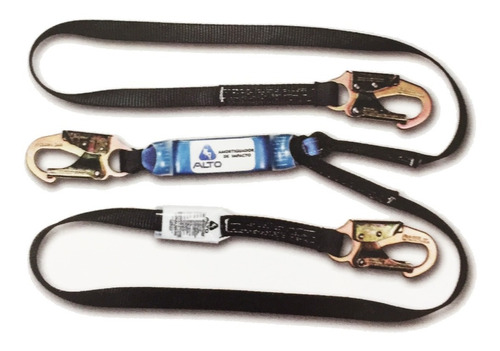 linea de vida banda nylon doble brazo amortiguador 180 mts