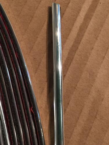 linea decorativa cromo autoadhesiva tuning auto 4mmx15m