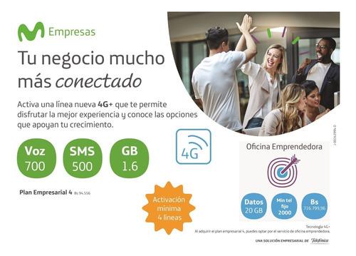 linea fija corporativa (02xx) 20gb + 5 lineas moviles 1.6 gb