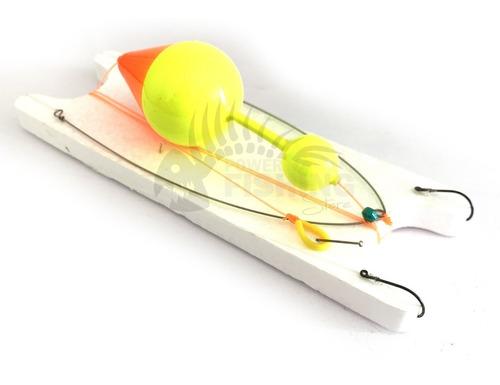 linea para pescar boga a flote boya con marcador y balancin