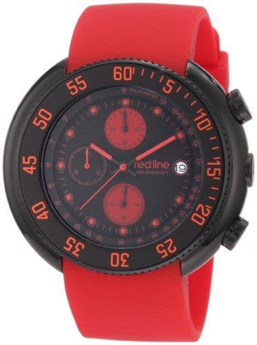 línea roja hombre  bb-01-rd driver cronógrafo negro dial ro
