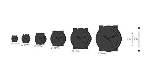 línea roja hombres rl bb-01yl negro reloj de silicona